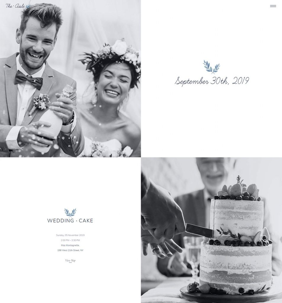 wedding rsvp website example